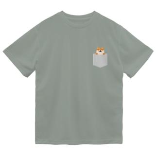 ひょっこり柴犬 ドライTシャツ