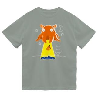 *suzuriDeMONYAAT*のCT145 たこさんwinなーとメンダコUFO Dry T-Shirt