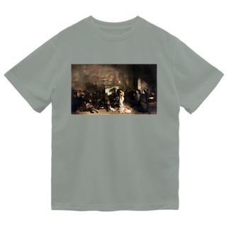 ギュスターヴ・クールベ(画家のアトリエ)のグッズ ドライTシャツ