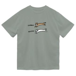 夏と冬のオコジョさん Dry T-Shirt