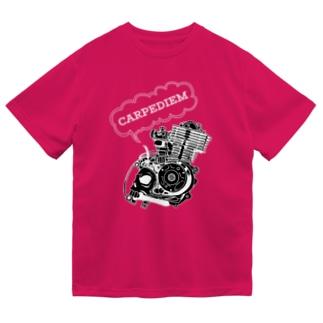 ドクロエンジン黒 Dry T-Shirt