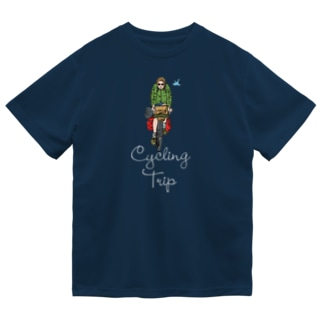 HIGEQLOの自転車に乗って旅に出る Dry T-shirts