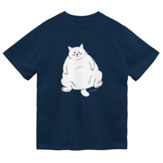 ふてぶてしいしろねこ Dry T-shirts