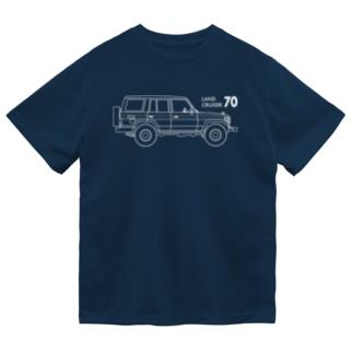 ランドクルーザー70イラスト(ホワイト) Dry T-Shirt