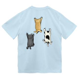 バックプリントver. 登ってくるネコたち Dry T-Shirt