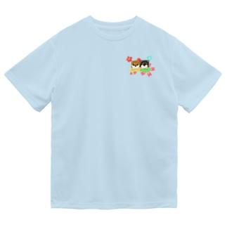 柴犬ベビーず 和柄背景① ドライTシャツ