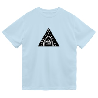 秘密結社サメ(black) Dry T-Shirt