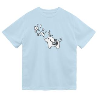 ゾウさんとお花 Dry T-Shirt