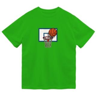バスケットゴール ドライTシャツ
