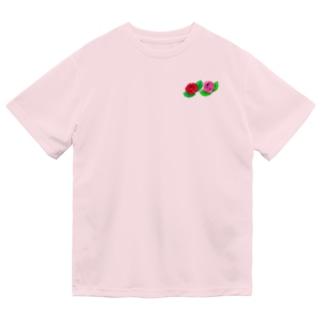 薔薇2輪のイラストグッズ Dry T-Shirt