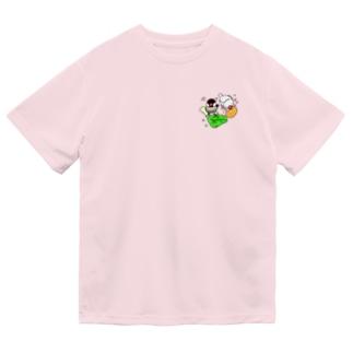 もぐもぐ文鳥ず① Dry T-shirts