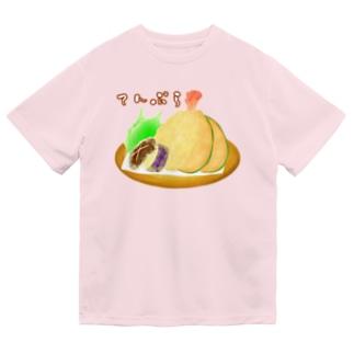盛られたてんぷら ロゴ入り Dry T-shirts