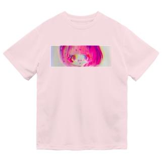 見つめてきのこちゃん ドライTシャツ