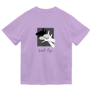 【色変化】Hand Dog(shadow) Dry T-Shirt