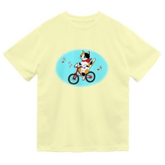 サイクリング♫にゃんこ ドライTシャツ
