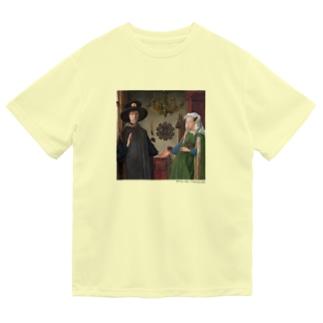 名画を楽しむてんとう虫〜手をつないでいる絵画〜 Dry T-Shirt