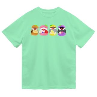マカロン文鳥ず Dry T-Shirt