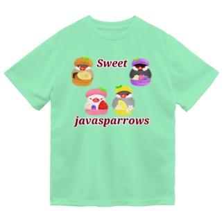 ぎゅっとマカロン文鳥ず ロゴ入り2 Dry T-Shirt
