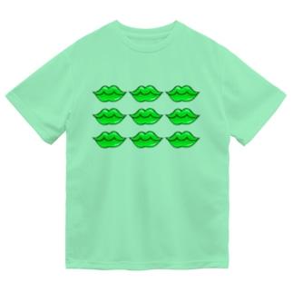 くちびる グリーンリップ Dry T-Shirt