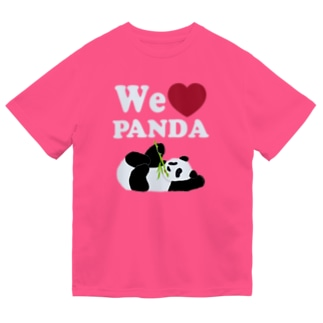 we love パンダ 濃色用 Dry T-Shirt