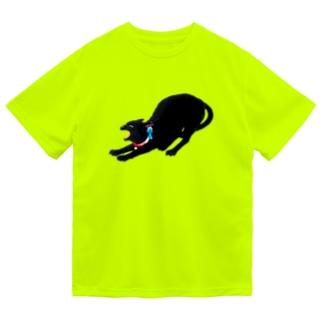黒猫 Dry T-Shirt