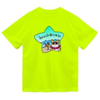 ビーチコーギードライTシャツ ドライTシャツ