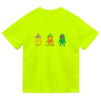 サルのSARU!!3兄弟!!(夏限定) Dry T-shirts