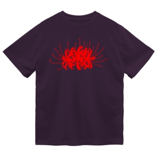 彼岸花 ワンポイント Dry T-Shirt