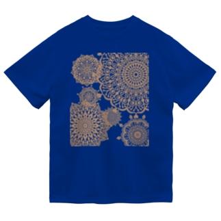 ヴィンテージレース柄 セピア Dry T-shirts