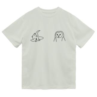 サメとメンフクロウ Dry T-shirts