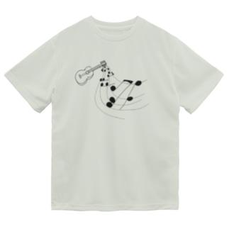 奏でるギター 線画 Dry T-Shirt