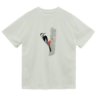 アカゲラ Dry T-shirts