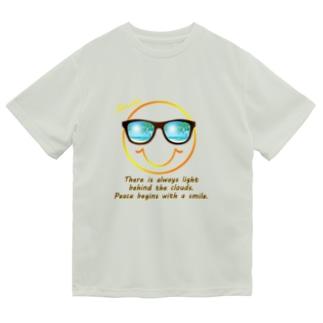 サングラス×スマイル🕶(オレンジ) Dry T-Shirt