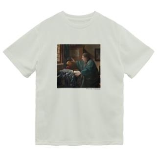 名画を楽しむてんとう虫〜リアルな絵画〜 Dry T-Shirt
