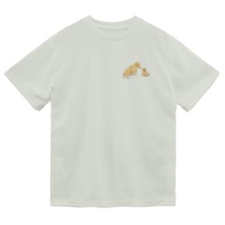 ゴールデンレトリバー親子 ドライTシャツ