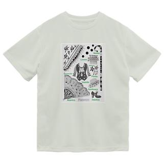 フラメンコ ベラーノ フラメンコグッズ スペイン語 白黒 Dry T-Shirt