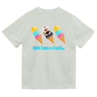 アイスと文鳥ず ロゴ入り① Dry T-Shirt