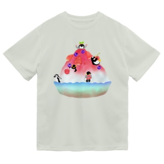 かき氷とペンギンたち① Dry T-Shirt