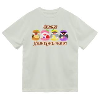 マカロン文鳥ず ロゴ入り Dry T-Shirt