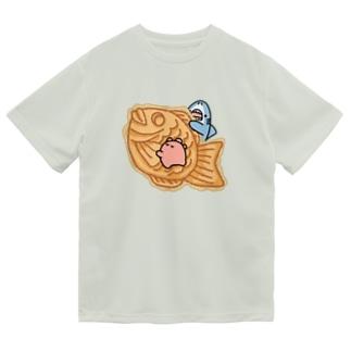 たい焼き食べたいサメとメンダコ Dry T-Shirt