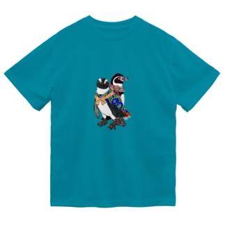 着物ぺんぎん―モダンきもののケープとフンボ― Dry T-shirts
