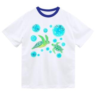 海亀さん ハングルデザイン ドライTシャツ
