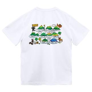 北海道の100名山イラスト Dry T-Shirt