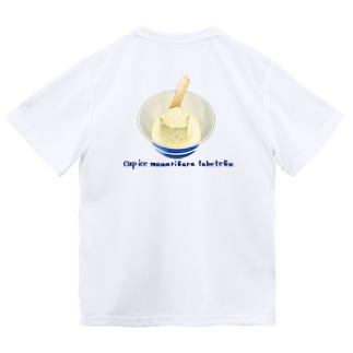 ※背面印刷 カップアイス周りから食べてく Dry T-Shirt