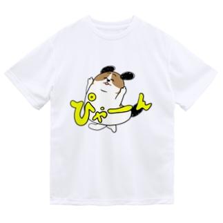 もじゃまるぴゃーん Dry T-shirts