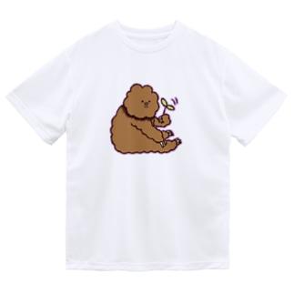 葉っぱくるくるたわしくん Dry T-Shirt