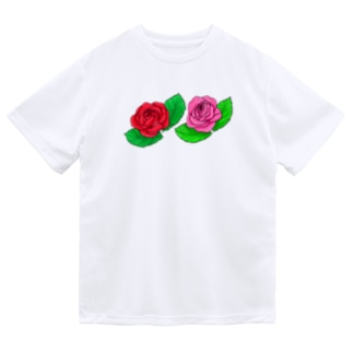 薔薇のステッカー ミニサイズ Dry T-Shirt