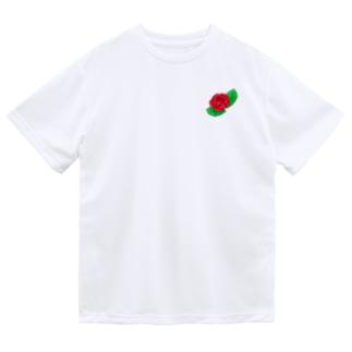 真紅の薔薇 Dry T-Shirt