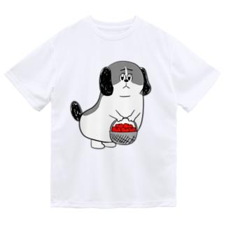 もじゃまるお見舞い 白黒 Dry T-shirts