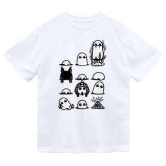 穴からぽこぽこ★メジェドさま Dry T-shirts